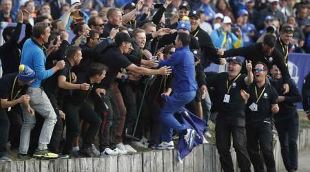 Europe regain Ryder Cup with dominant singlesdisplay