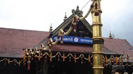 sabarimala temple, sabarimala temple to open today, sabarimala temple protests, sabarimala temple entry, women entry in sabarimala temple, kerala government, bjp, sangh parivar, supreme court, lord ayappa, lord ayappa shrine, indian express news
