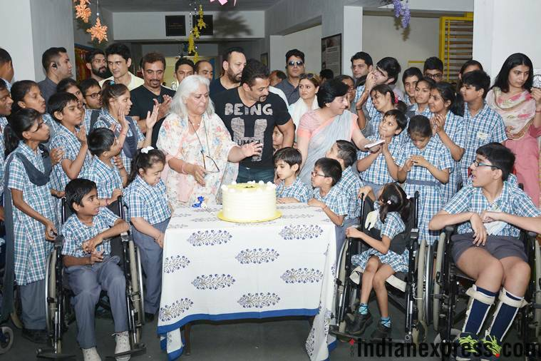 salman khan with specially abled children
