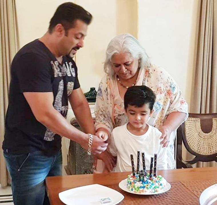salman khan with bina kak