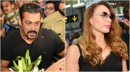 Fans mob Salman Khan and Iulia Vantur in Jaipur