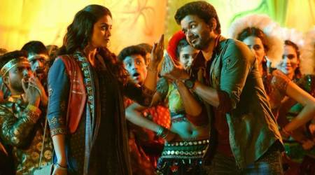 Sarkar song Simtaangaran: Vijay and Keerthy Suresh feature in a fun folk number