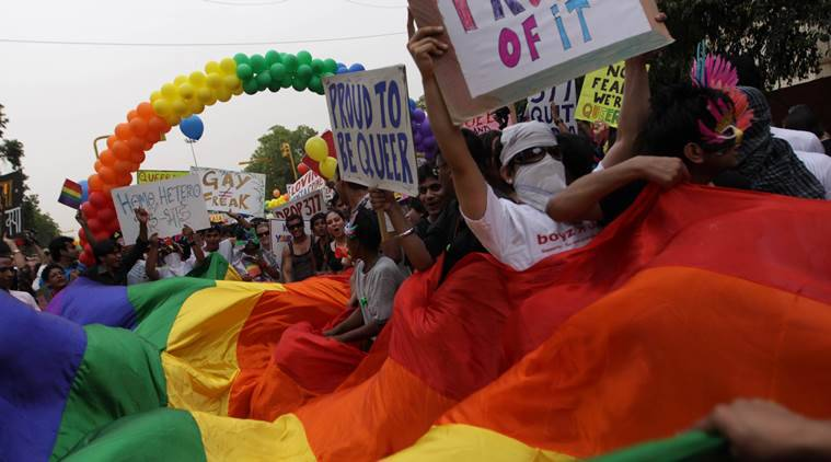 Campaigners in India celebrate historic ruling to decriminalise gay sex