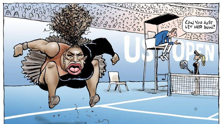 Australian Newspaper Reprints Controversial Serena Williams Cartoon Dubbed As Racist Sports News The Indian Express