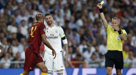 Real Madrid stroll past AS Roma, Sergio Ramos tops Champions League booking table