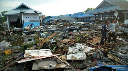 Indonesia, Indonesia tsunami, Tsunami, Indonesia deaths, Tsunami deaths, Indian Express