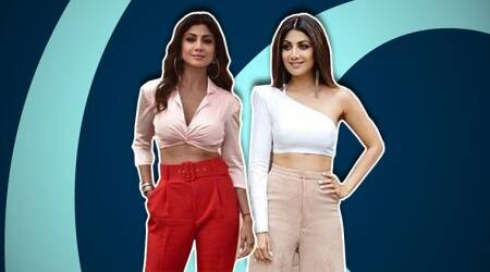Shilpa Shetty shows how to style a crop top and how!