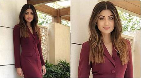 Shilpa Shetty looks chic in this Nikhil Thampi coat dress