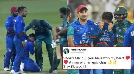 VIDEO: Shoaib Malik consoles crying Afghan bowler in Asia Cup, wins hearts on Twitter