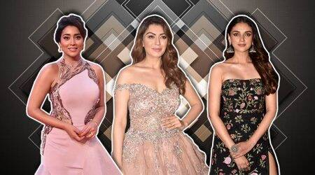 Aditi Rao Hydari, Shriya Saran and Hansika Motwani graced the SIIMA Awards in embellished gowns