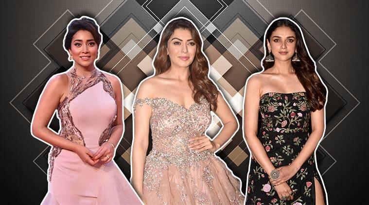 Aditi Rao Hydari, Hansika Motwani, Shriya Saran, South Indian International Movie Awards, SIIMA Awards, Aditi Rao Hydari updates, Aditi Rao Hydari latest pics, celeb fashion, indian express, indian express news