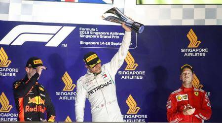 Lewis Hamilton opens 40-point lead with Singapore Grand Prix victory