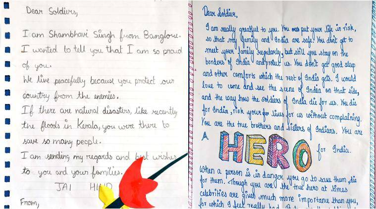 These handwritten letters to soldiers by kids around india is the netizens loved the sweet gesture and said it was the best tribute to armed forces source raksha mantri twitter expocarfo Gallery