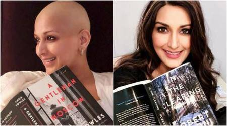 Sonali Bendre is not letting her cancer treatment get in the way of herreading