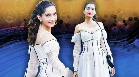 Sonam Kapoor is a modern-day princess in this white Emilia Wickstead dress