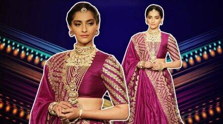 Sonam Kapoor looks ethereal in this embellished lehenga