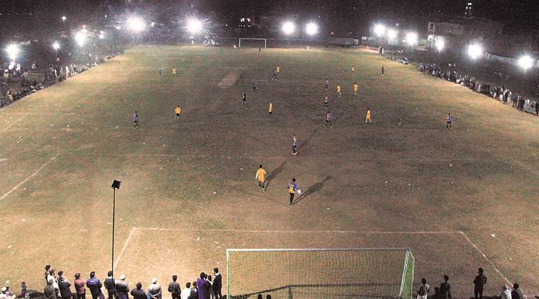 Under drones and floodlights in volatile Sopore, a football tournament shines