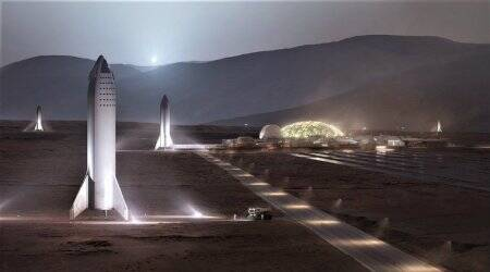 Elon Musk gives a glimpse of SpaceX's new BFR and Mars Base Alpha