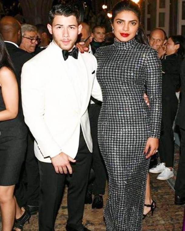 priyanka chopra and nick jonas at ralph lauren party