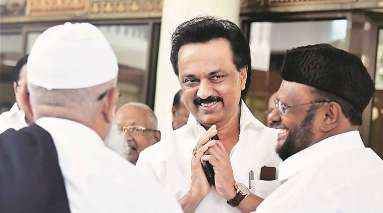 The DMK reminded cadres how Stalin, in January 2017, had asked members not to embarass him by touching his feet.