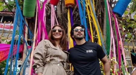 Anushka Sharma and Varun Dhawan are guests at Express Adda today