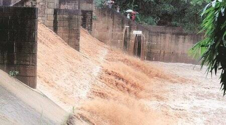 Sukhna Lake floodgates open after a decade as water level crosses dangermark