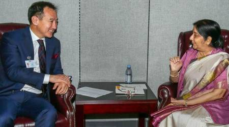 Sushma Swaraj holds bilateral meetings with key foreigncounterparts