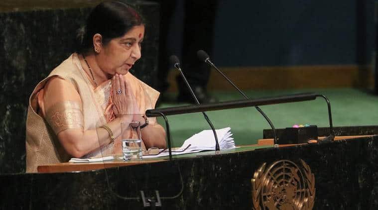 Strongly defends calling off talks: At UN, Sushma Swaraj tears into Pakistan 'malevolence, verbal duplicity'