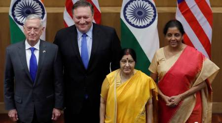 F-16 fighter aircrafts, US-India, Russia deal, Russia deal waiver, US india sanctions, India russia sanctions, S-400, sushma swaraj, Nirmala Sitharaman, Donald Trump, Narendra Modi, Mike Pompeo, indian express, india news