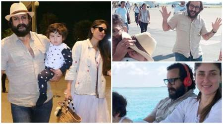 Kareena Kapoor, Saif Ali Khan take son Taimur Ali Khan for a Maldives vacation