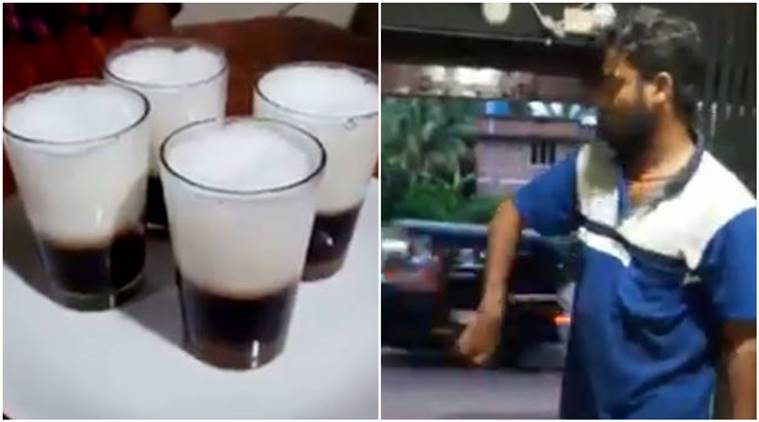 kerala, kerala tea, man serving tea, man serving tea viral video, kerala man, kerala tea, viral video,