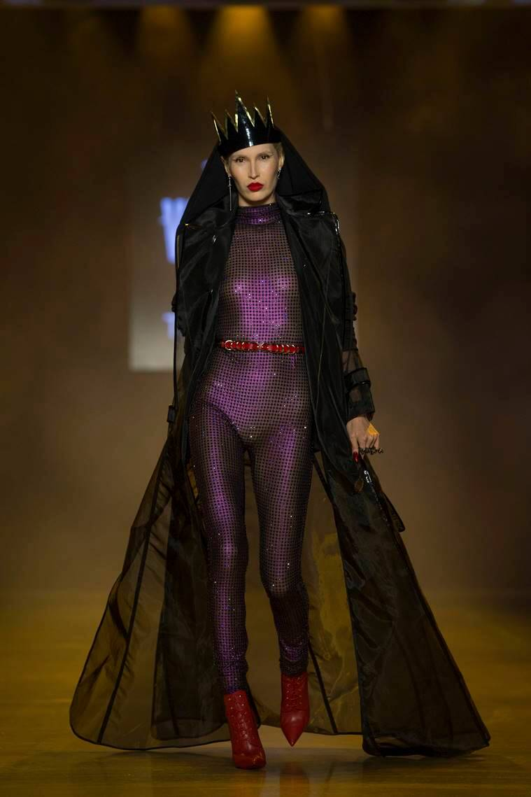 New York Fashion Week, New York Fashion Week The Blonds, Disney villains New York Fashion Week, disney villains inspired outfits, The Blonds disney villains, indian express, indian express news