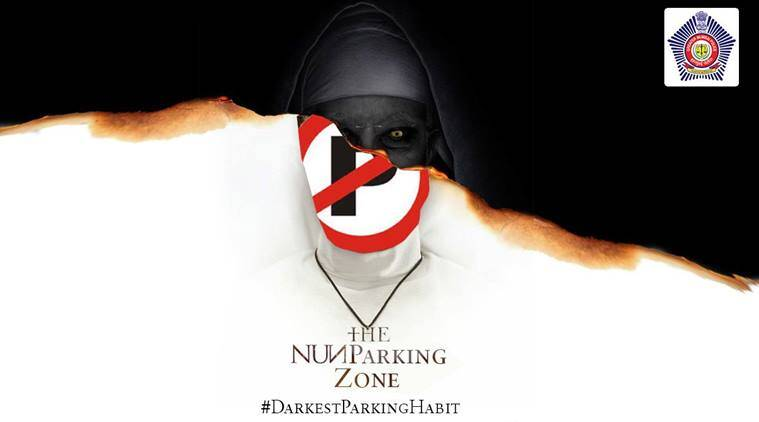 mumbai police joins in the nun poster meme game uses it to convey a