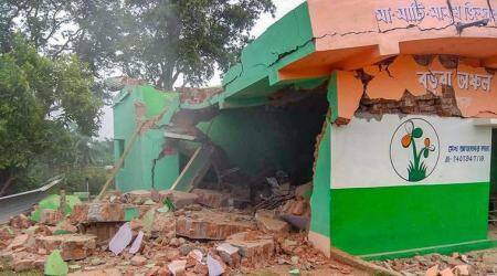 West Bengal: Explosion destroys TMC party office in Birbhum district
