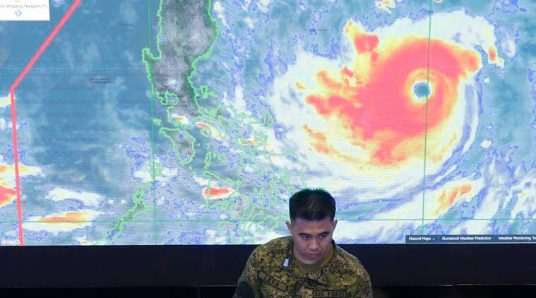 Super typhoon Mangkhut, a Category 5 storm, strikes the northern Philippines