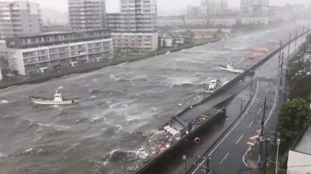 Typhoon Jebi leaves trail of destruction across Japan