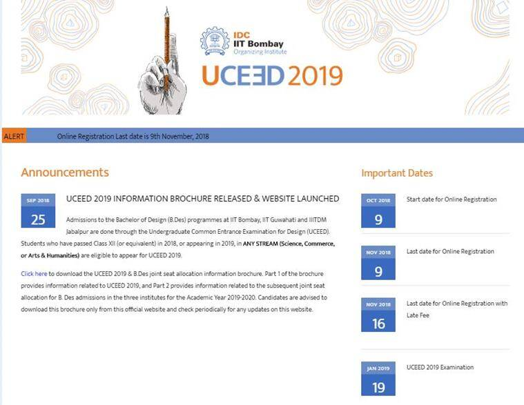uceed, uceed.iitb.ac.in, uceed 2019 admit card, uceed exam scheme, uceed paper pattern, uceed 2019 exam date