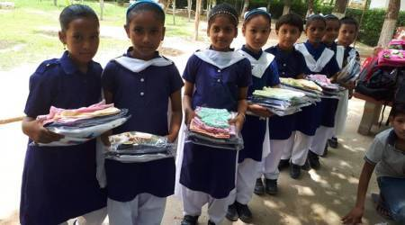 international literacy day, international literacy day 2018, United Nations, Mukesh Sahay, Parul Chandra, Donate an hour, Mrs. Ruckmani Gopal, education, kids, underprivileged kids receiving education, voluntary work, donation, charity, indian express, indian express news
