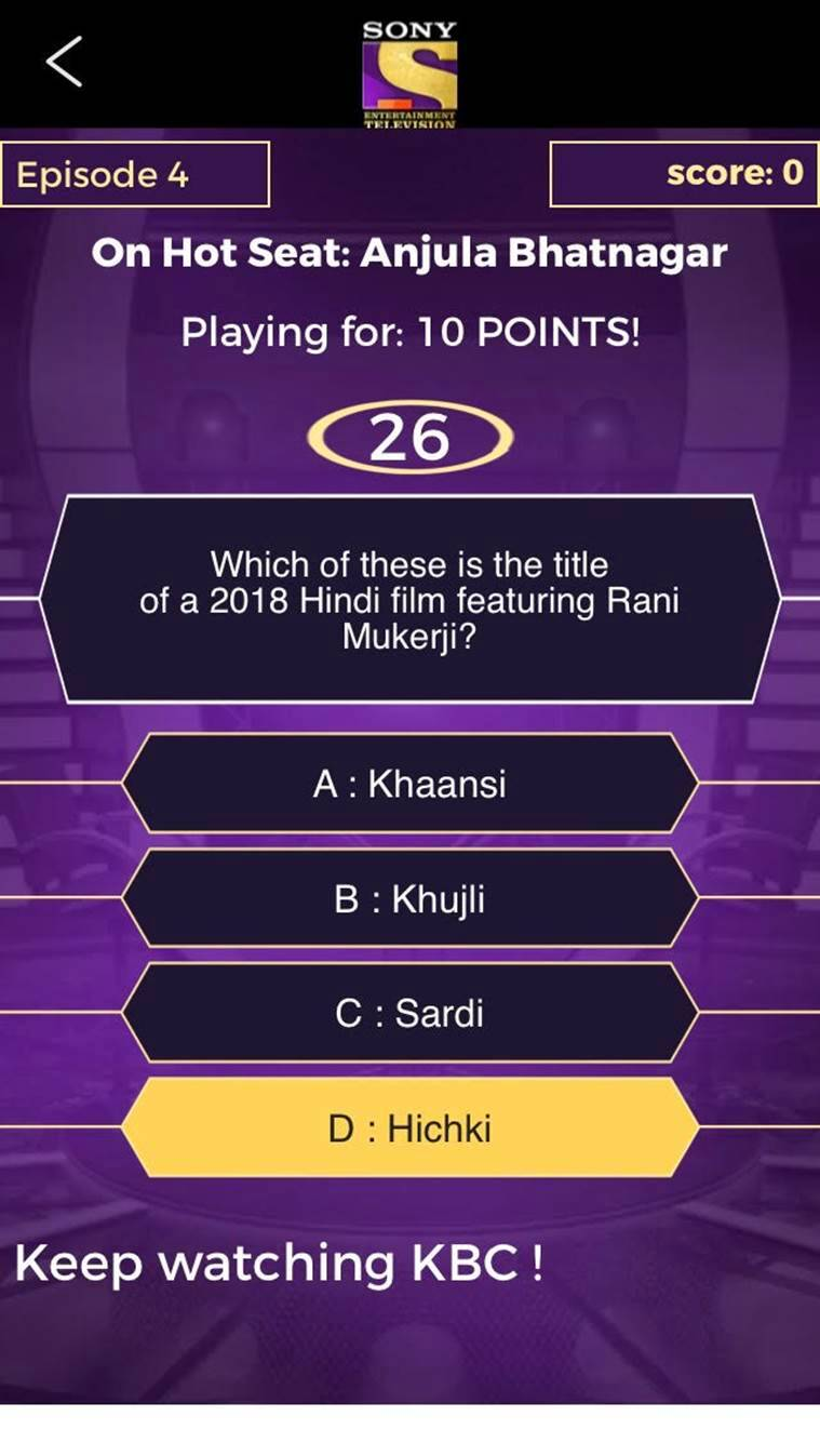 KBC Play Along on Sony LIV app disappoints | Entertainment
