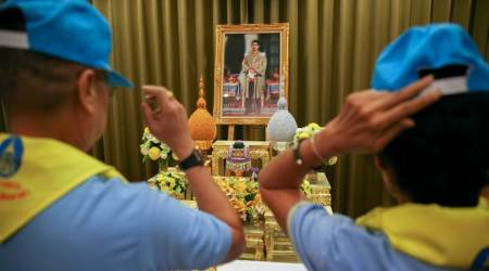 Thai king's yellow and blue volunteers boost his support,visibility