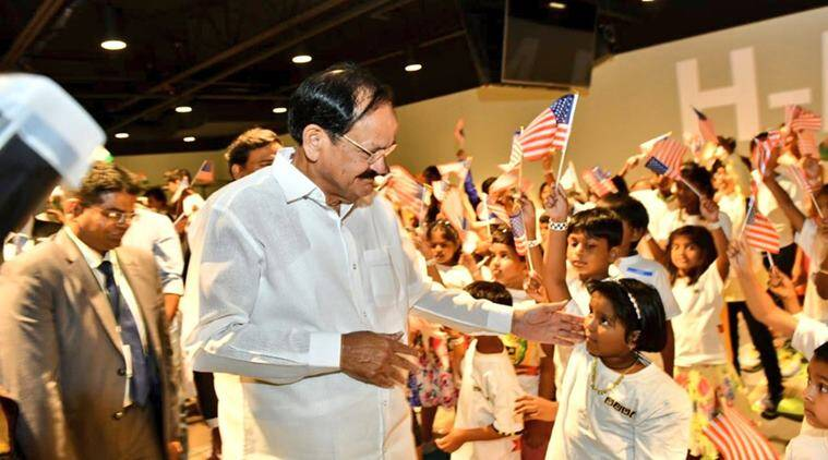 Venkaiah Naidu, Chicago, Telugu Americans , India news, Indian Express news