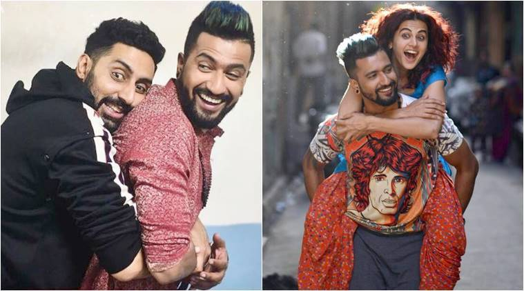 vicky kaushal with abhishek bachchan and taapsee pannu in manmarziyaan