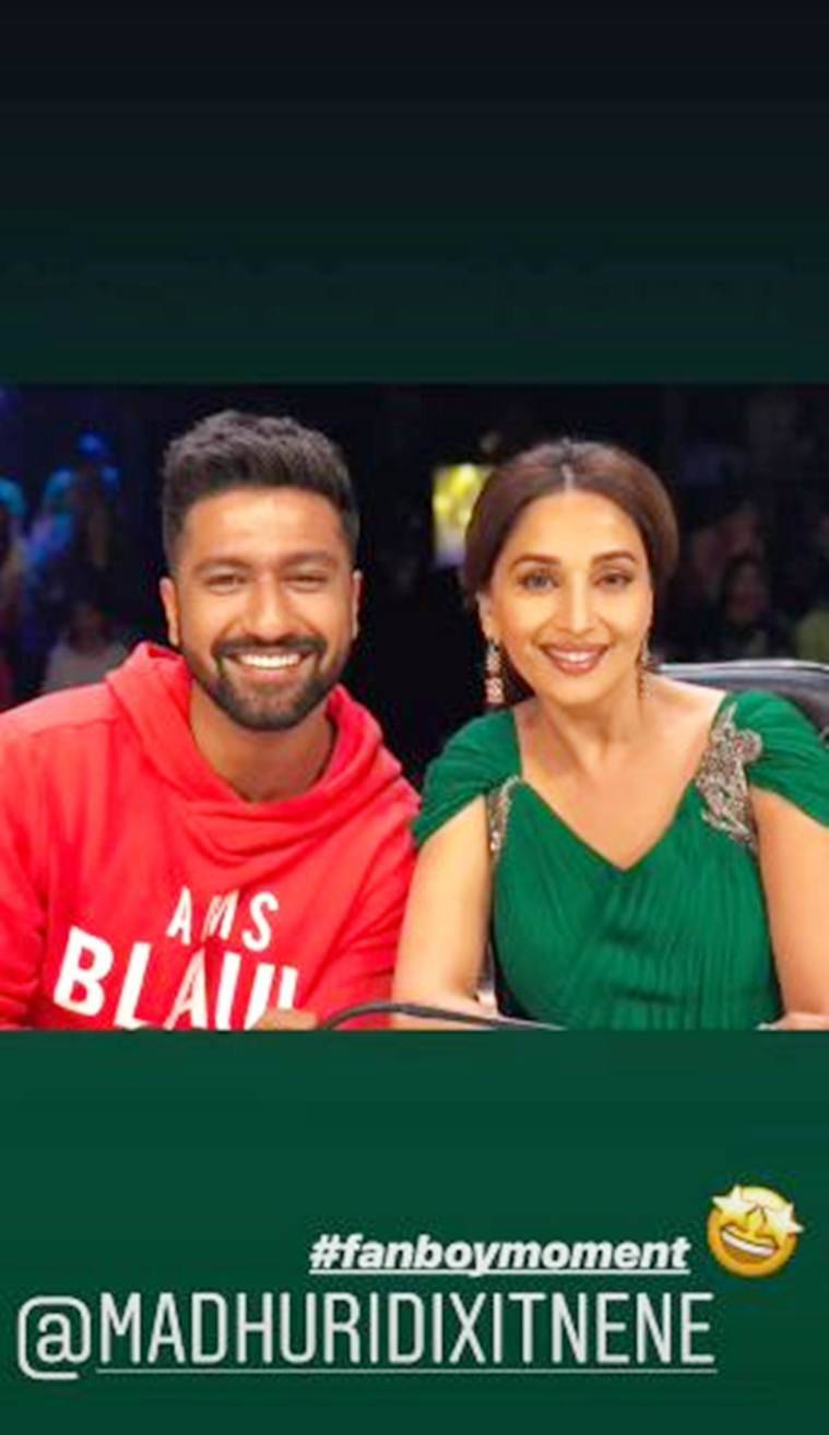 vicky kaushal with madhuri dixit