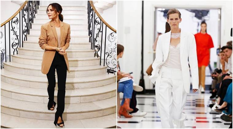 Victoria Beckham, London Fashion Week, London Fashion Week 2018, Victoria Beckham London Fashion Week, LFW'18, David Beckham, Romeo Beckham, Brooklyn Beckham, Stella Tennant, celeb fashion, indian express, indian express news