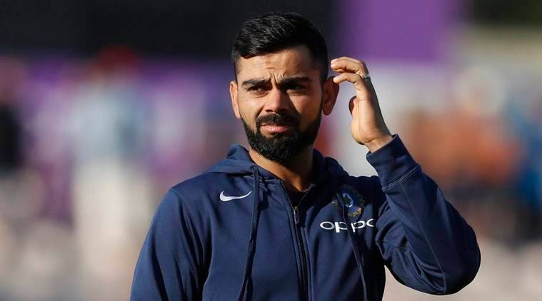 Virat Kohli reacts after the end of the 4th test which England won by 60 runs on the fourth day of the 4th cricket test match between England and India at the Ageas Bowl in Southampton, England