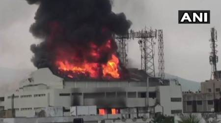 Fire breaks out at theatre in Visakhapatnam, 5 fire tenders rushed to spot