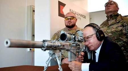Vladimir Putin fires three 'Kill Shots' using new Kalashnikov rifle