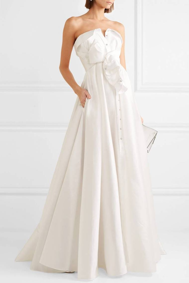 Alexis Mabille, stain twill gown, wedding gowns, unusual wedding dresses, wedding, gowns, ditch the traditional, net a porter, indian express, indian express news