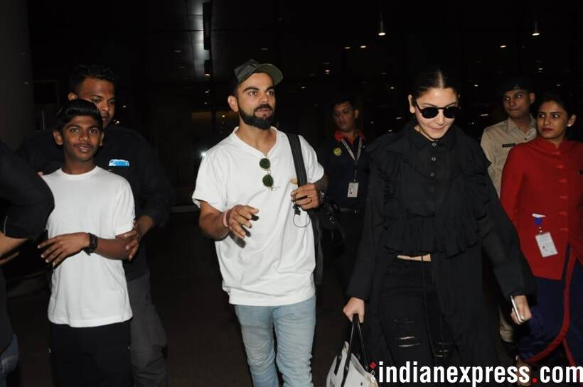 virat kohli and anushka sharma at airport