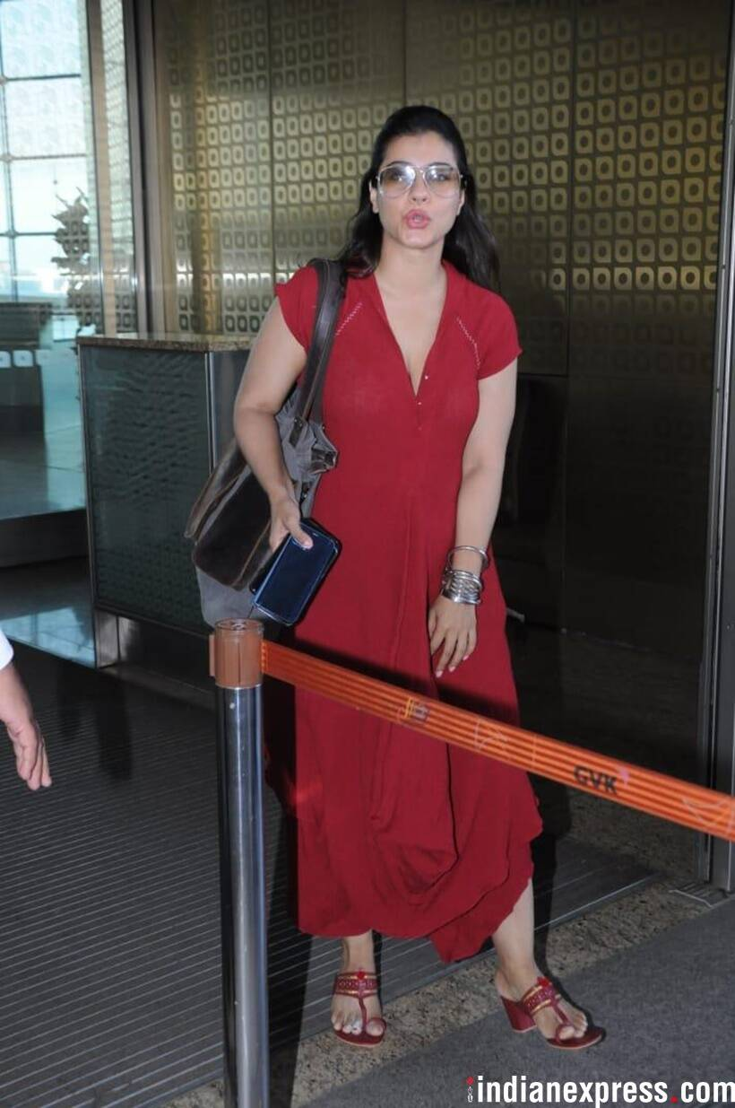 kajol at ariport